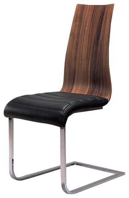 Wooden Veneer Dining Chairs, Set of 2