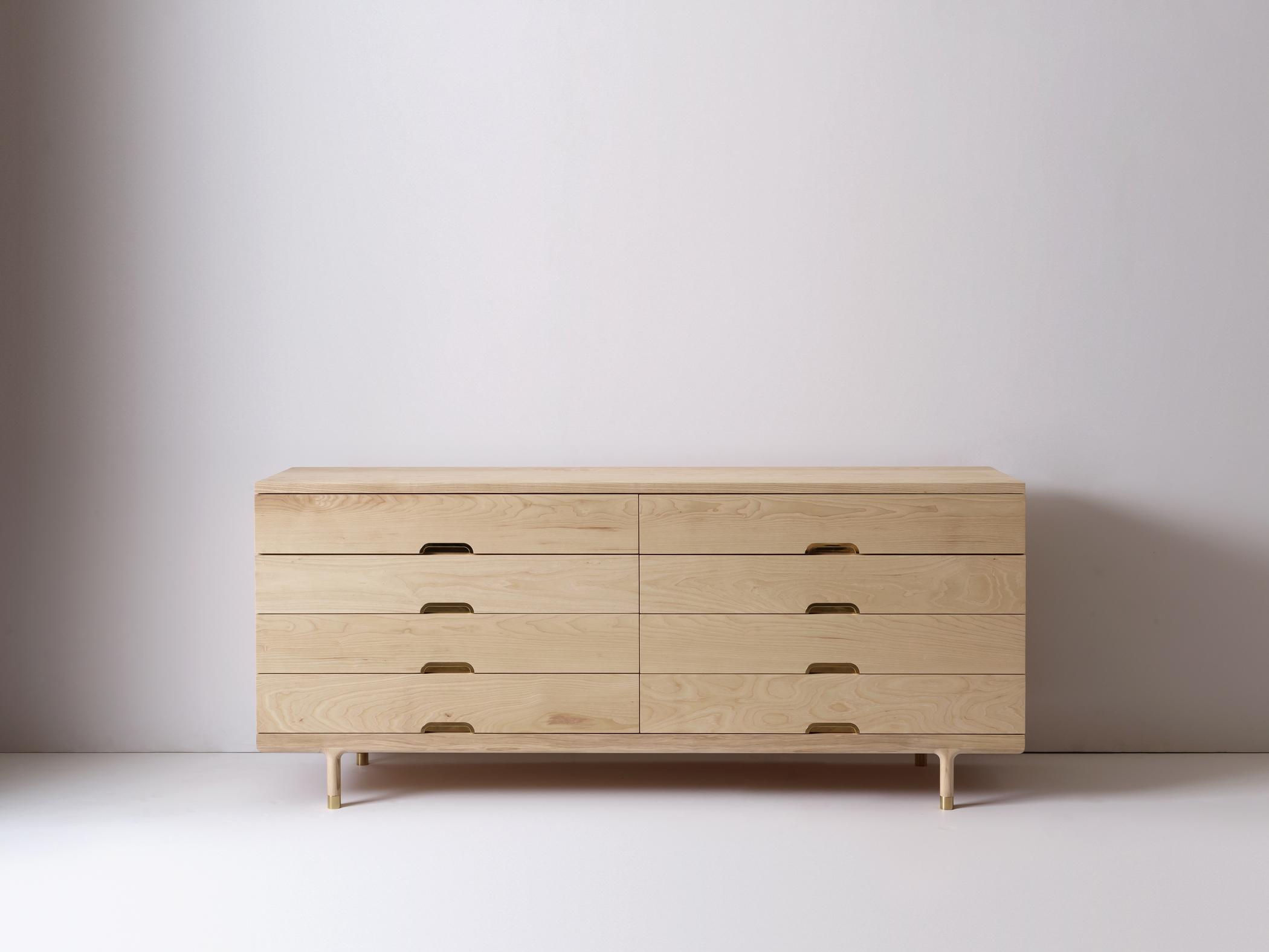 Modern Solid Wood Simple Dresser in Ash