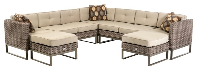 2015 Modern Rattan Furniture Patio Outdoor Sectional Sofa Set-in