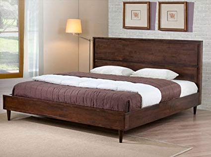 Image Unavailable. Image not available for. Color: Vilas Modern King Size  Solid Wood Platform Bed Frame