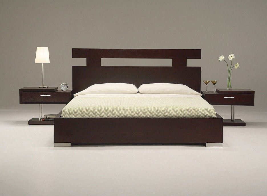 Ultra Modern King Size Bed Set From Wooden Material Feature Modern .