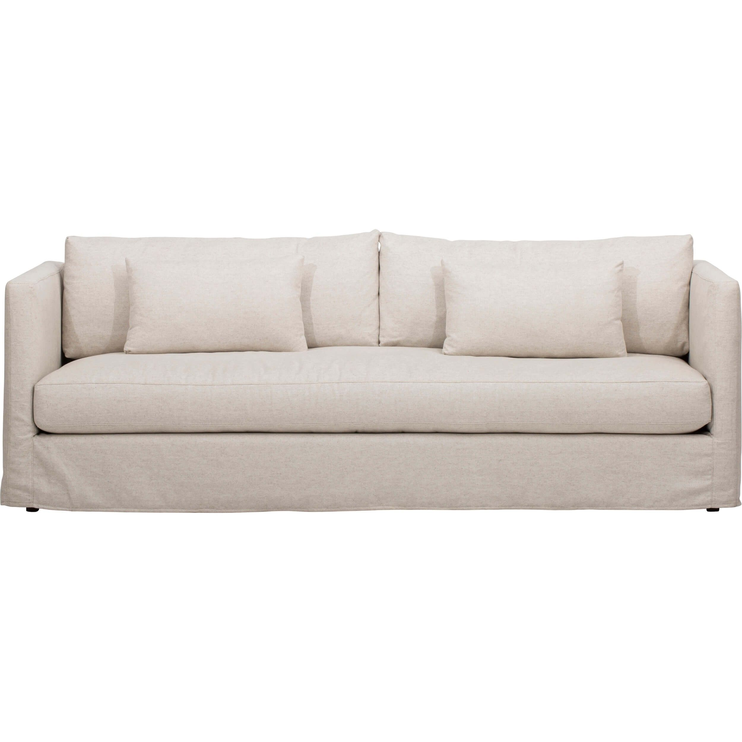Lucinda Grand Slipcover Sofa, Duet Natural