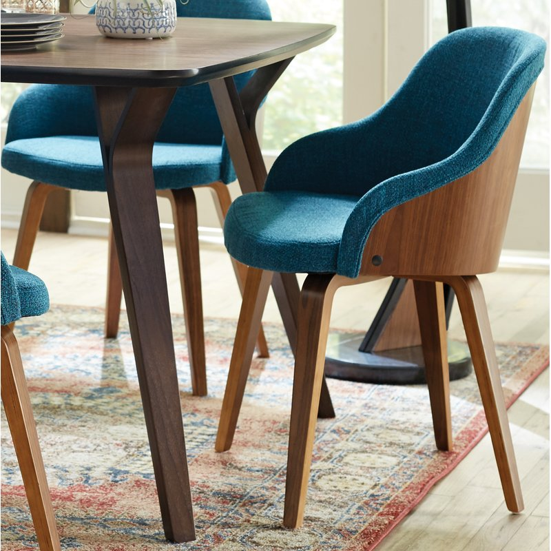 George Oliver Brighton Mid-Century Modern Upholstered Dining Chair &  Reviews | Wayfair
