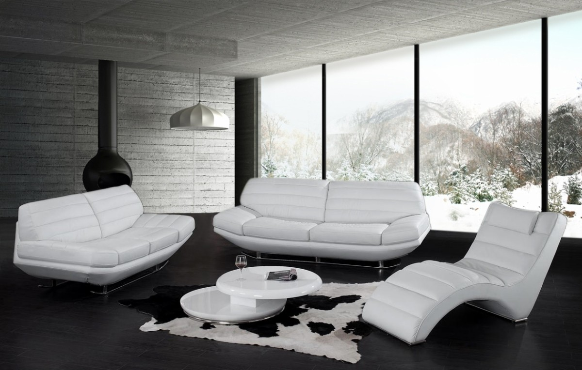 Cute White Livingroom Furniture And Modern Pendant Lamp Modern White  Living Room Furniture White Leather Living