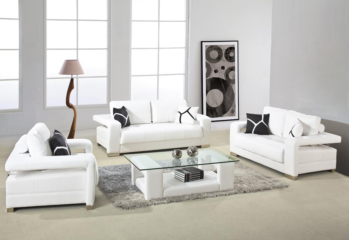 modern living room furniture sets with simple simple set of white sofa and  simple white wall