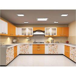 Commercial U Shape Modular Kitchen, Warranty: 1-10 Years