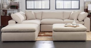 Klaussner Monterey Contemporary 5 Pc Modular Sectional Sofa
