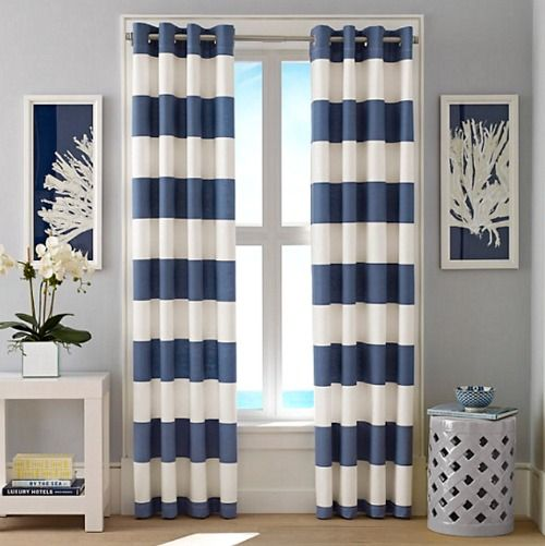 Nautical Cabana Stripe Curtains http://Traveller Locationpletely-coastal