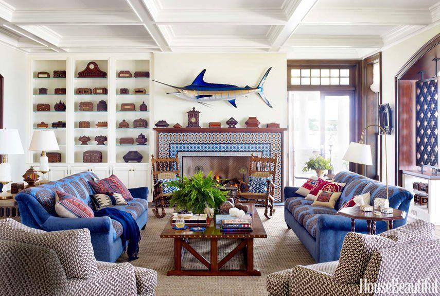 Nautical Home Decor - Ideas for Decorating Nautical Rooms - House Beautiful