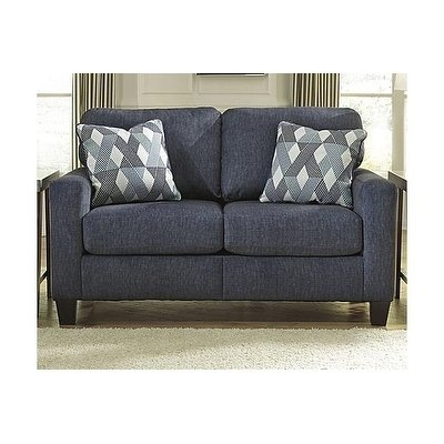 Shop Signature Design by Ashley, Burgos Contemporary Navy Loveseat - Free  Shipping Today - Overstock - 20740542