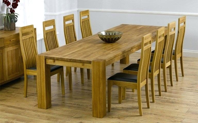8 Seater Oak Dining Table 8 10 Seater Oak Extending Dining Table