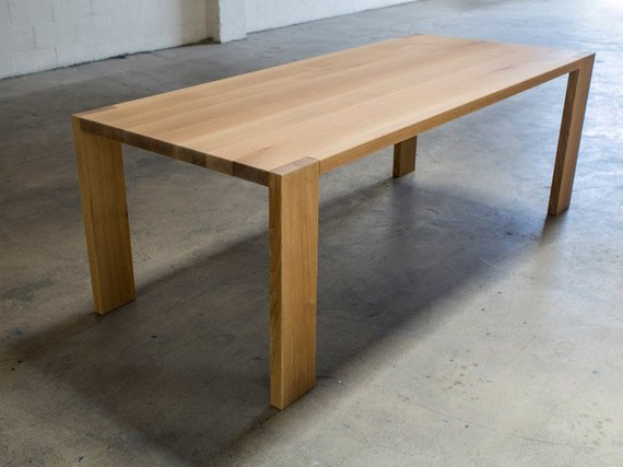 The Morrison White Oak Dining Table | Etsy