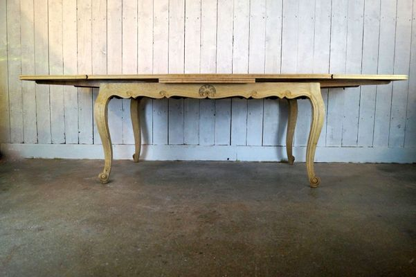 Bleached Oak Dining Table, 1950s for sale at Pamono