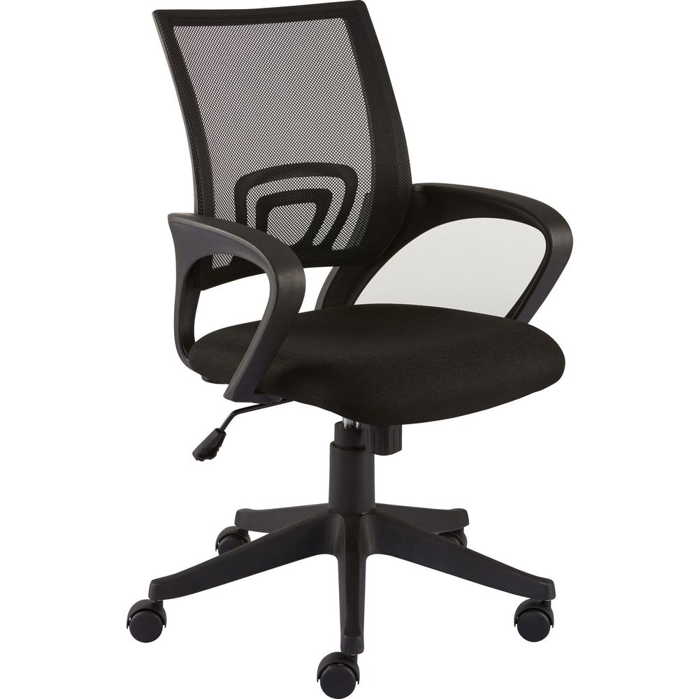 Staples Felucca Task Chair With Arms, Mesh and Fabric, Black
