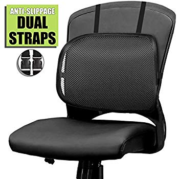 Easy Posture Lumbar Back Support Mesh (Black Mesh, 1PC)