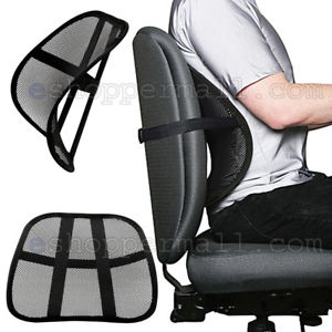 Image is loading Cool-Vent-Cushion-Mesh-Back-Lumbar-Support-New-