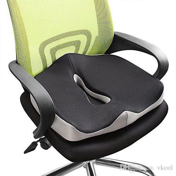 Comfort Memory Foam Seat Cushion Coccyx Orthopedic Office Chair Car Seat  Back Cushion Tailbone & Sciatica Pain Relief Back Support Cushions Car Seat  Riser