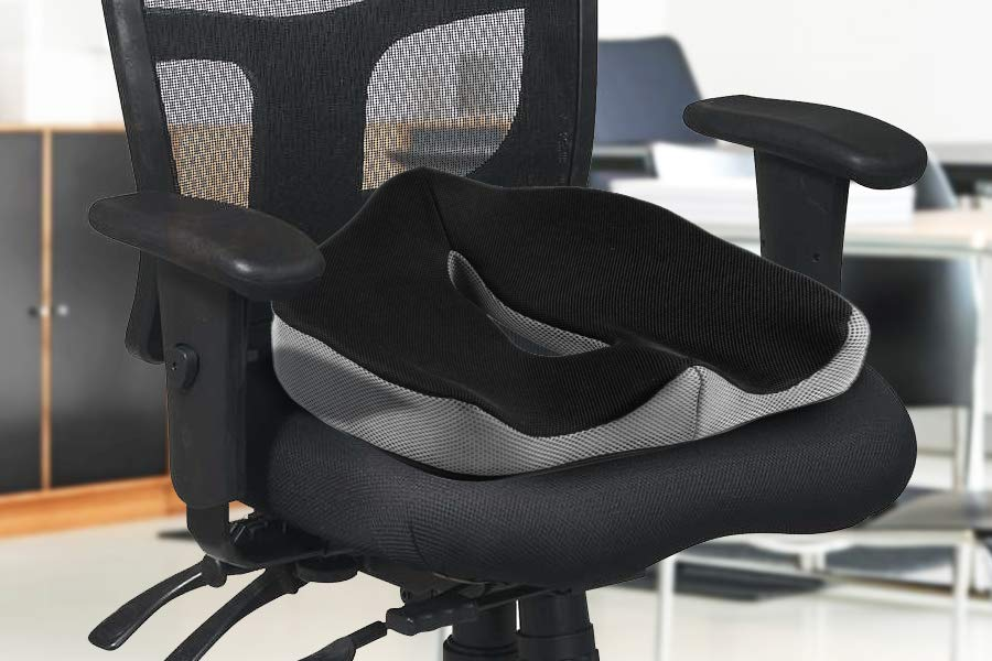 This memory foam seat cushion from Perfect Posture will add comfort to your  everyday seating: from your home, to your car seat, office chair and more.