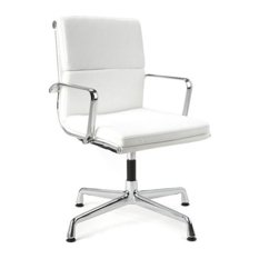 Director Soft Pad Office Chair With No Wheels, White