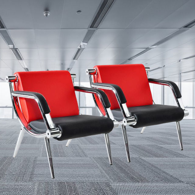 2pcs Modern Office Reception Chair Waiting Room Visitor Guest Sofa
