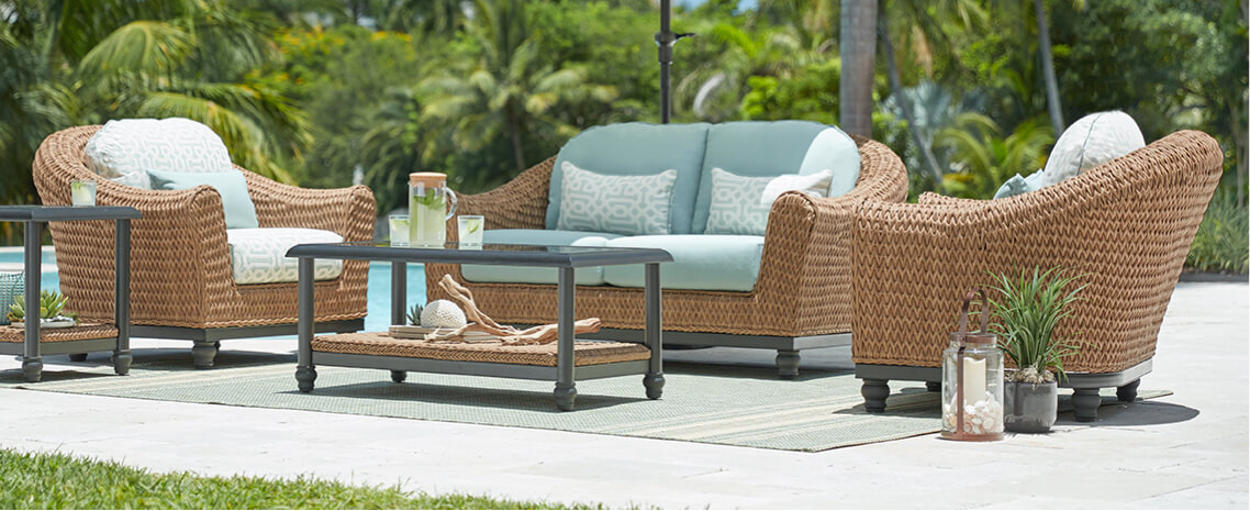 Coastal Outdoor Lounge Patio Furniture