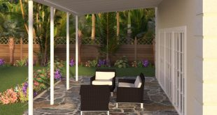 White Aluminum Attached Solid Patio Cover with 4 Posts (10 lbs. Live Load)