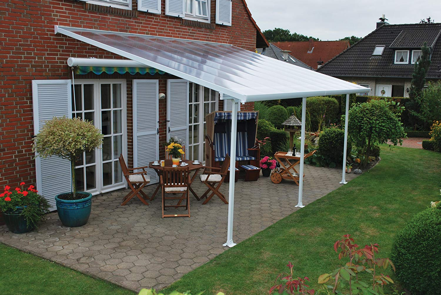 Traveller Location : Palram Feria Patio Cover 13 x 20 White : Greenhouse Parts And  Accessories : Garden & Outdoor