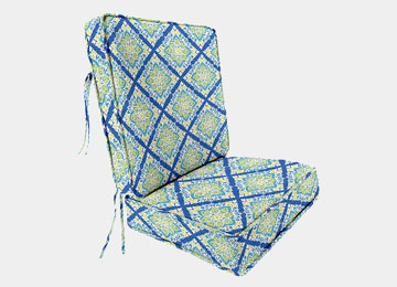Patterned Patio Lounge Chair Cushion