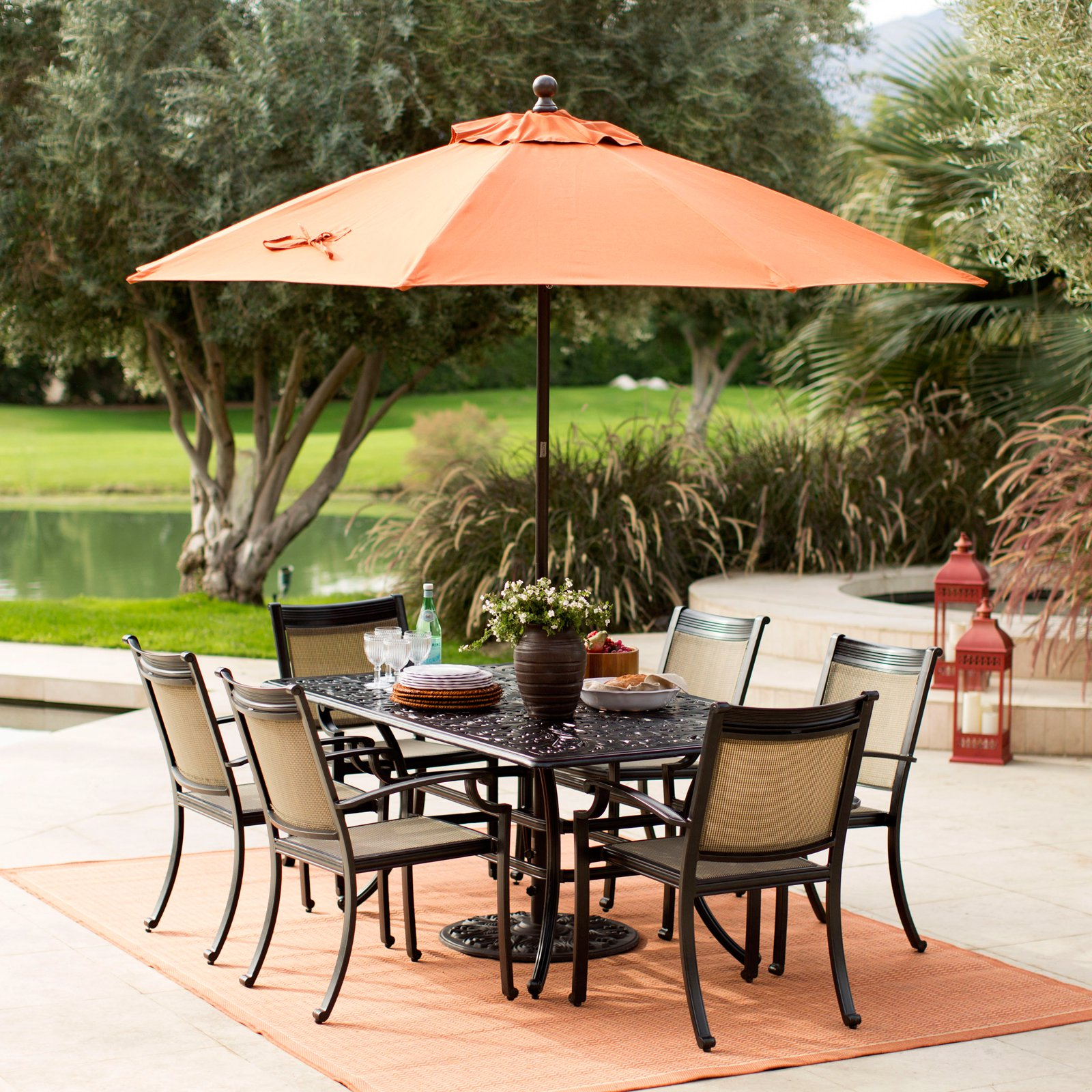 Sunbrella Commercial Grade Aluminum Wind Resistant Patio Umbrella -  Traveller Location