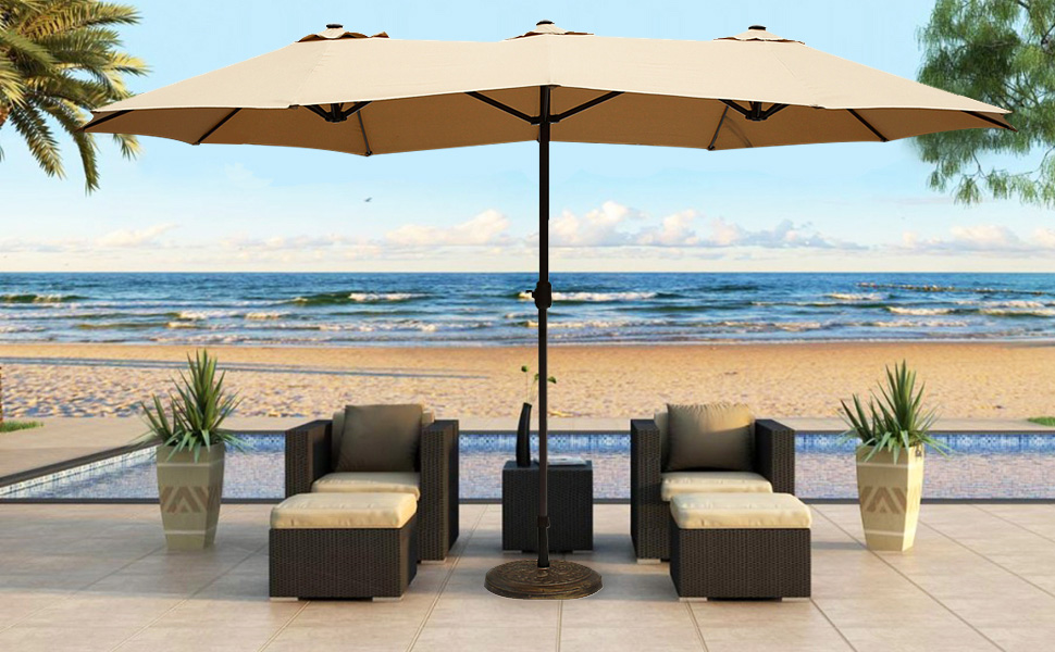 Our outdoor patio umbrellas are styled with the classic and elegant look  that accents any outdoor setting. Featured with fade- and mildew-resistant  canopy,