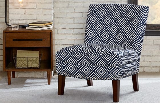 Black and white patterned accent chairs how to mix patterns