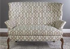 latticework pattern geometric pattern sofa settee Vintage Settee, New  Furniture, Dream Furniture, Love