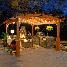 Wood Rectangle Pergola | Hearthside Style Pergola Kits www.Traveller Location  Curved Pergola,