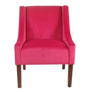 Shop Porch & Den Lyric Pink Velvet Swoop Arm Accent Chair - On Sale - Free  Shipping Today - Overstock - 21804724