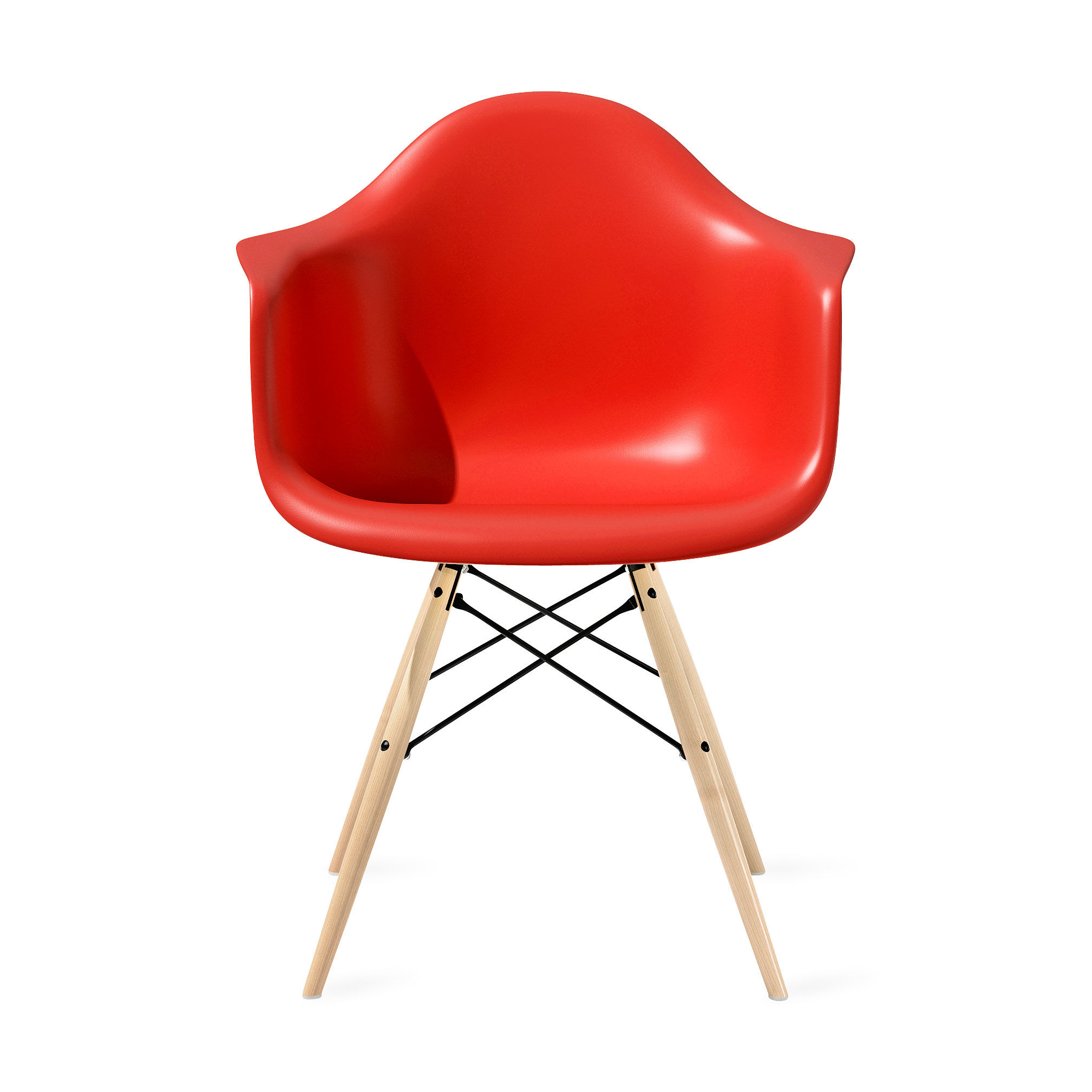 Eames® Molded Plastic Armchair with Dowel-Leg Base (DAW&#
