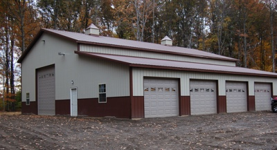 Large storage barn and workshop from Pole Barns Direct