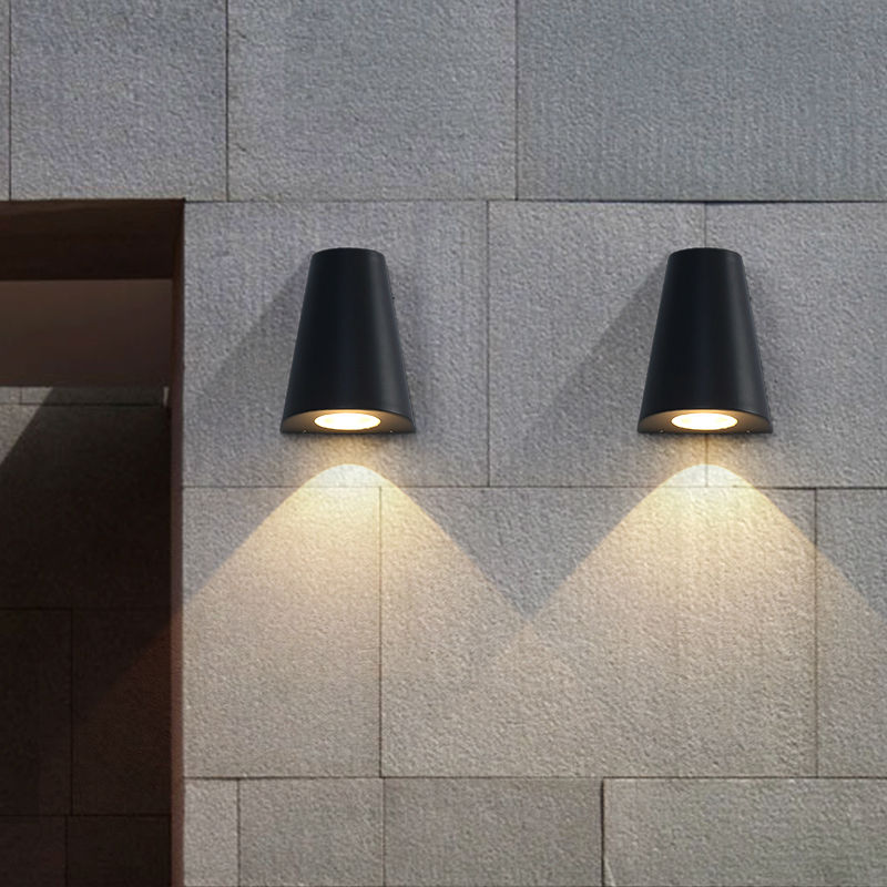 Modern LED wall light Porch lights Waterproof IP65 for bathroom garden Art  deco outdoor lighting Aluminum wall lamp 5w bulbs-in LED Outdoor Wall Lamps  from