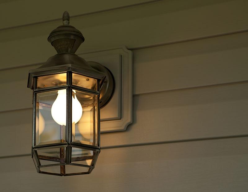 Installation of new porch light