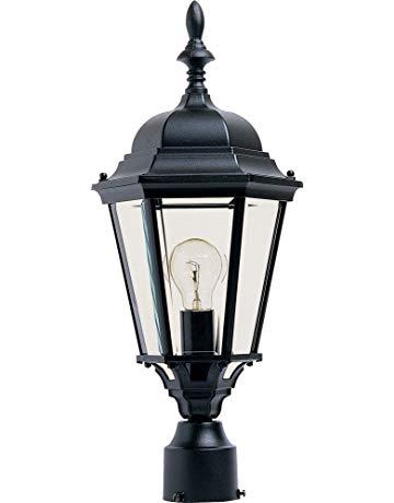 Maxim 1005BK, Westlake Cast Aluminum Post Lamp - 100W Black Outdoor Post  Lighting, Incandescent