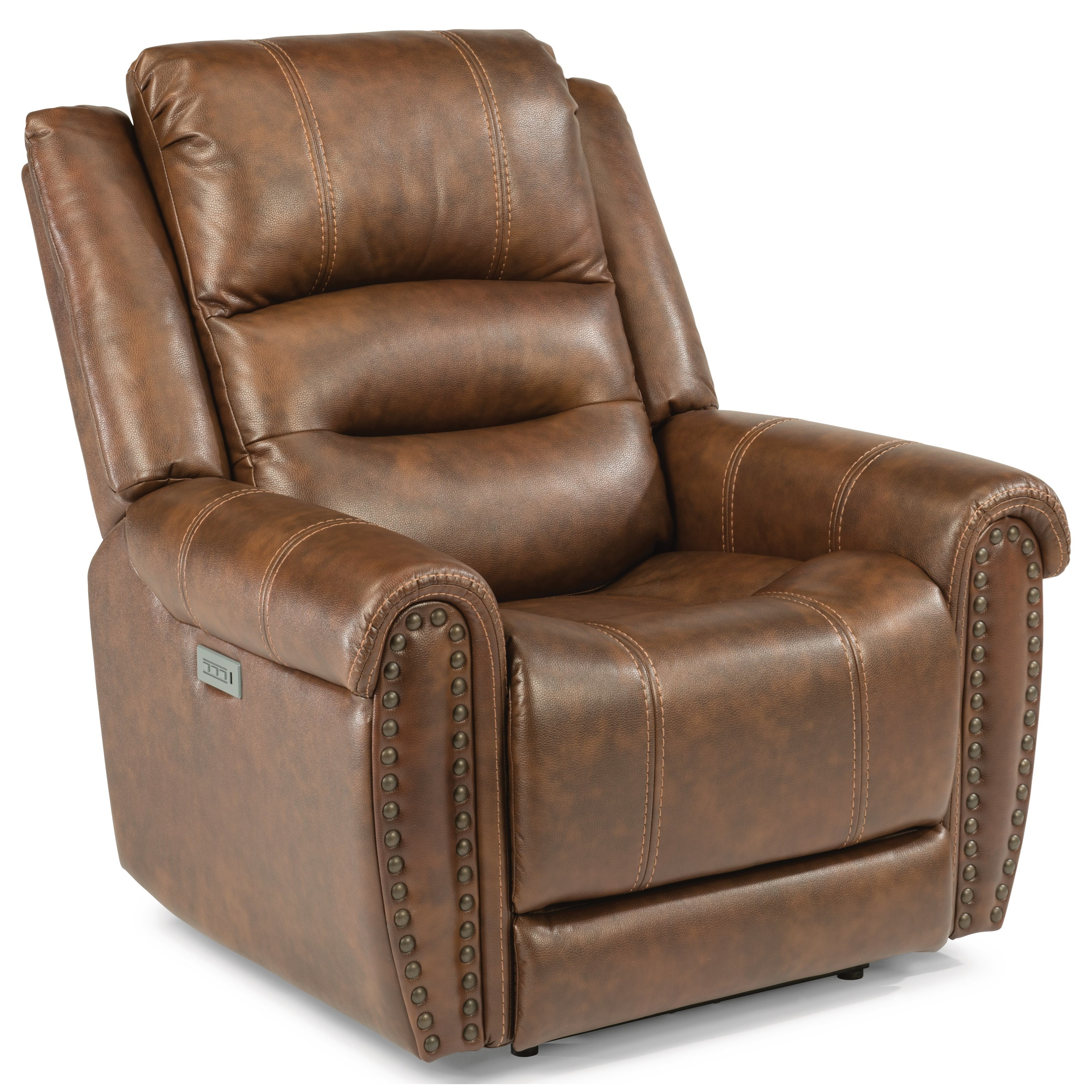 Latitudes - Oscar Power Recliner with Power Headrest and Lumbar Support by  Flexsteel