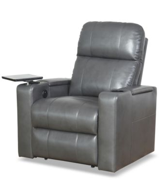 SUNDAY THEORY Thomas Leather Power Recliner, Quick Ship