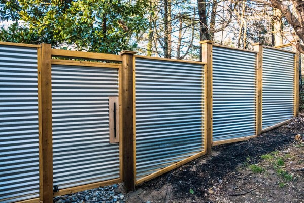 Corrugated Steel Privacy Fence Ideas
