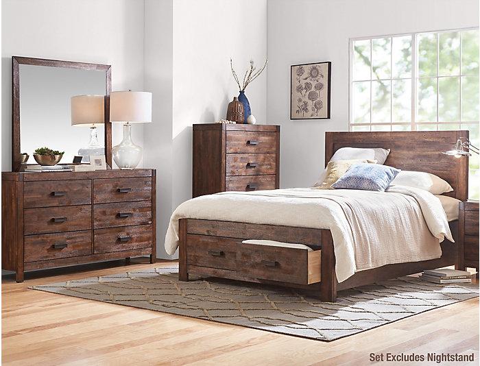 Warner Chestnut Queen Bedroom Set, , large