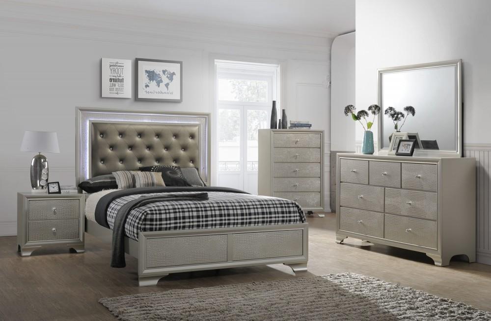 Nikola Bedroom Set Dresser Mirror Queen Bed | 4300 | Bedroom Sets | Price  Busters Furniture