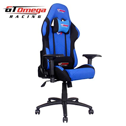 Traveller Location: GT Omega PRO Racing Office Chair Blue and Black Fabric: Kitchen  & Dining