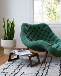 Modernica Brasilia Chaise | Made in Los Angeles, California | Available in  28 fabric choices at Traveller Location