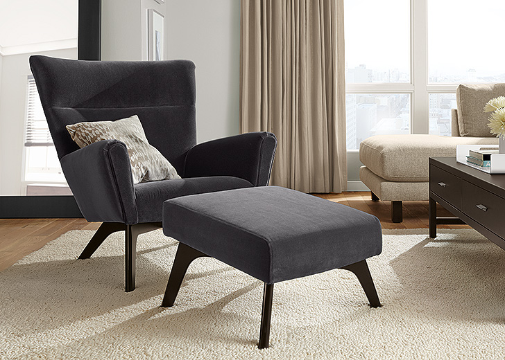 Reading Chair With Ottoman
