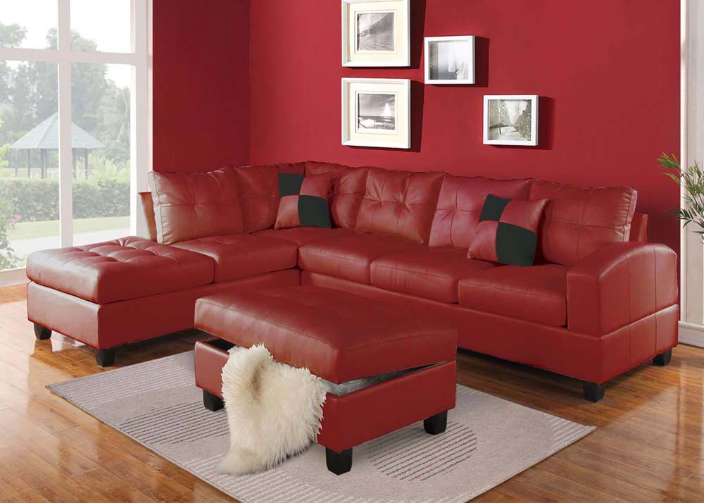 Red Sectional Sofa. images/products/51185.jpg