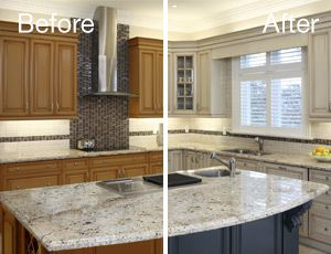 Cabinet refacing color change