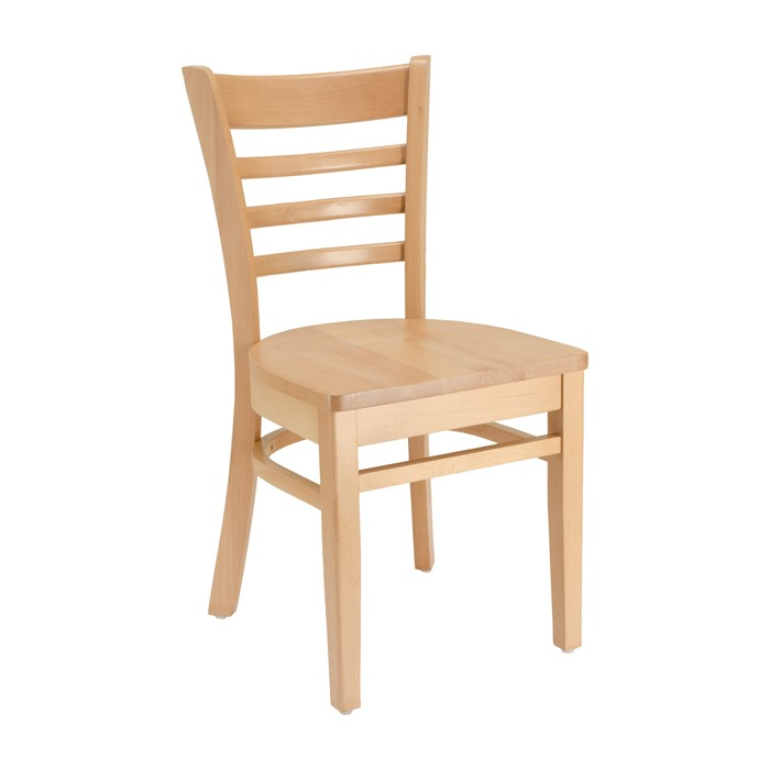 Ladderback Chair with Wood Saddle Seat | Wood Restaurant Chairs, Resturant  Furniture | Plymold Essentials
